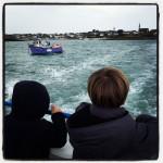 Sur le bateau en direction de l'Ile de Batz